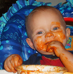 Babies that are full will just play with their food, they never eat beyond fullness, we have the same Inner Guidance in our belly!